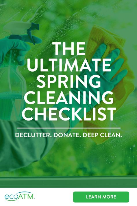 Start off the season with less clutter and a cleaner place so you can clear your mind. Here are some spring cleaning tips and tricks to help you remember all the places you should hit to make the most of your spring cleaning list. Deep Cleaning Checklist, Household Cleaning Tips, Cleaning Recipes, House Cleaning Tips, Diy Cleaning Products, Cleaning Solutions, Cleaning Hacks, Car Cleaning, Spring Cleaning List