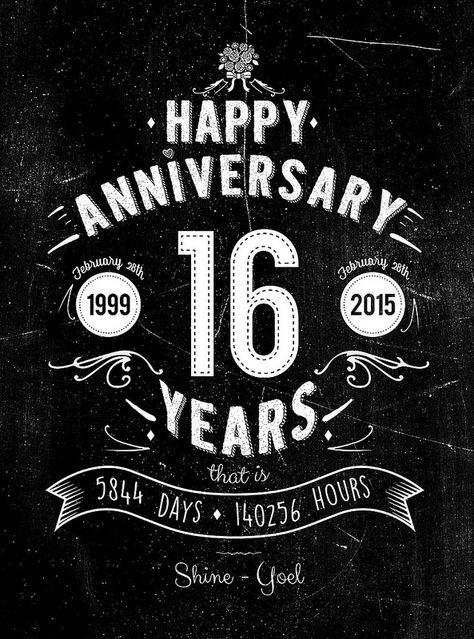 Our 16th Anniversary Card 16th Anniversary 16th Wedding Anniversary Wedding Anniversary Quotes