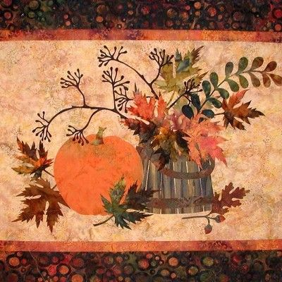 "Edyta Sitar 34/""x 26/"" FALL MEMORIES Art Quilt Pattern by Laundry Basket Quilts"