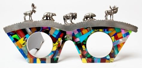 ackie Anderson, jewelry and eyewear designer, exhibition with 12 utterly unusual eyewear works of art.