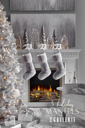 Need Holiday Mantel Decorating Ideas Traditional Modern Or Contemporary No Matter Yo Christmas Mantel Decorations Holiday Decor Silver Christmas Decorations
