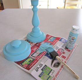Candlestick Jar Tutorial Diy Candle Sticks Diy Candy Candlesticks