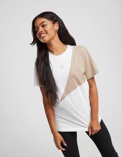 Speed Colour Block T-Shirt Dames - Wit - Dames, Wit | T ...