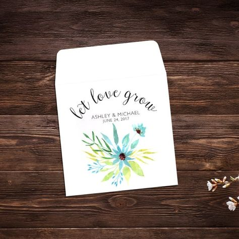 Seed Packet Favor, Let Love Grow, Spring Wedding, #seedpackets #seedfavors #weddingfavors #weddingseedfavor #weddingseedpackets #seedpacket #weddingfavor #seedfavor #seedpacketenvelope #seedpacketfavor #springwedding #summerwedding #springweddingfavor