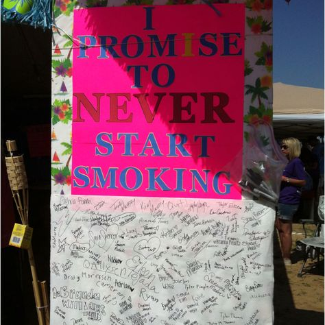 Fight Back activity at a campsite. So simple, yet so impactful!
