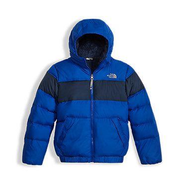 e4b67c4a3f The North Face Boys' Moondoggy 20 Down Hoodie Fleece Jacket: Kids