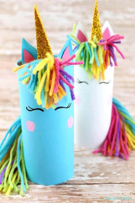 Try to make these gorgeous unicorn crafts at home with the kids. They will enjoy playing and making these cute unicorns for kids this Summer! kids crafts Unicorn Crafts For Kids Crafts Fir Kids, Summer Crafts For Kids, Crafts For Kids To Make, Crafts For Teens, Preschool Crafts, Diy And Crafts, Kids Diy, Party Crafts, Christmas Crafts