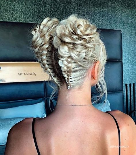 Easy Updos For Medium Hair, Easy Everyday Hairstyles, Medium Hair Styles, Short Hair Styles, Pigtail Hairstyles, Pretty Hairstyles, Braided Hairstyles, Pigtail Braids, Hair Places