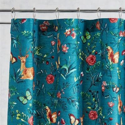 Woodland Critters Teal Shower Curtain Pier 1 Imports Teal