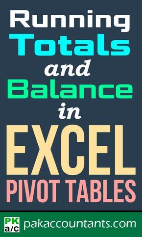 Learn how to do Running totals and running balance super easily with this technique in Excel Pivot Tables in this step by step tutorial for beginners Computer Help, Computer Programming, Computer Tips, Microsoft Excel Formulas, Excel For Beginners, Computer Shortcut Keys, Excel Hacks, Office Hacks, Pivot Table
