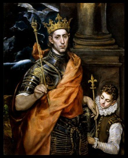 Saint Louis (Louis IX) King of France - by El Greco | Alte kunst ...