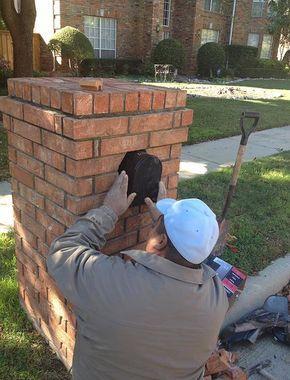 A Double Mailbox In 2020 Brick Mailbox Brick Repair Custom Mailboxes