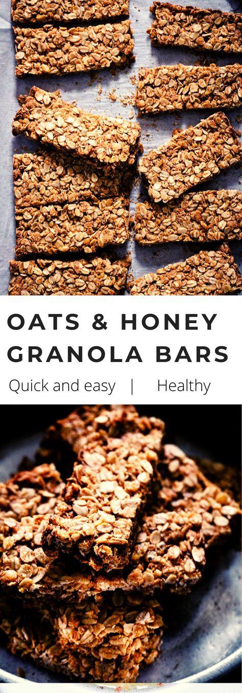 Copycat Crunchy Oats and Honey Granola Bars - My Kitchen Little