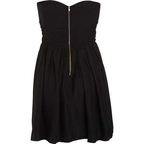 2cb8024643b8 Parker Strapless Dress - Black size Large (£55) ❤ liked on Polyvore  featuring dresses, vestidos, black, sukienki, clothing & accessories,  women, silk dress ...