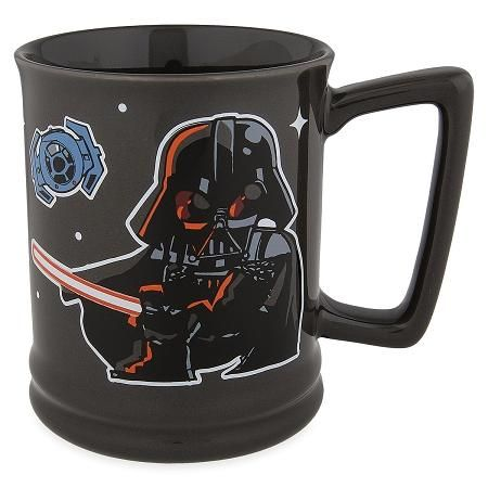 Turn To The Dark Side For Your Morning Brew With This Star Wars Mug Darth Vader Is Pictured In Comic Style Disney Coffee Mugs Disney Star Wars Star Wars Mugs