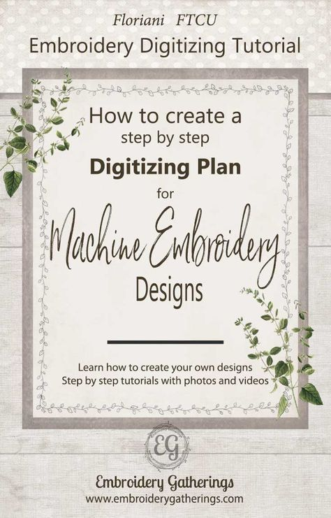 Digitize and create embroidery files easily and for free.