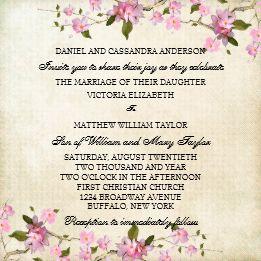 Pink Japanese Cherry Blossoms Wedding Invitation Cherry Blossom Wedding Cherry Blossom Wedding Invitations Blossom Invitation