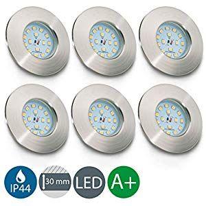 1-5er Set LED Dimmbar  Einbau-Strahler Spot IP44 Bad ultra-flach Einbau-Leuchte