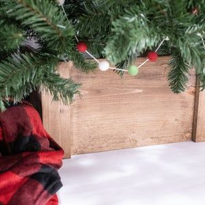 Folding Christmas Tree Collar Farmhouse Tree Box Collapsible Etsy In 2020 Tree Collar Tree Stand Christmas Tree