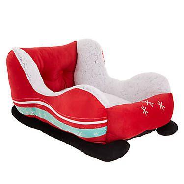 Merry Bright Holiday Sleigh Cuddler Pet Bed Dog Cuddler Beds Petsmart Novelty Dog Beds Pet Bed Pets