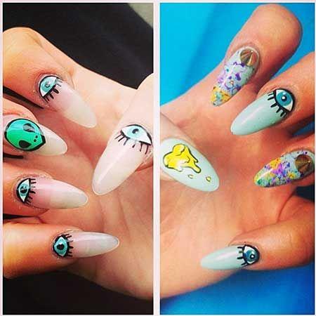 Pin By Nail Art Designs Blog On Nails Hipster Nails Alien Nails Nails
