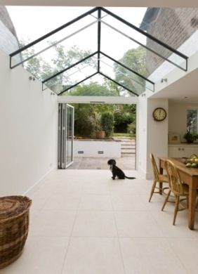 Glass Roof House trombé :: contemporary modern conservatories and conservatory