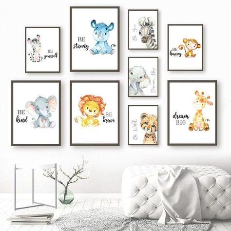 Cute Cartoon Animal Poster