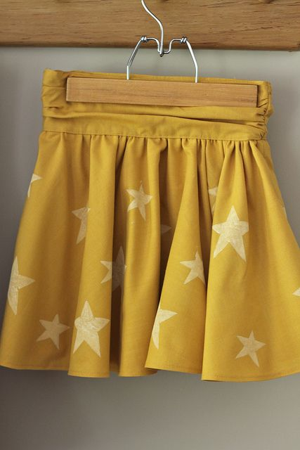 beautiful yellow star skirt, burdastyle pattern :: @Lucinda Freece Poel