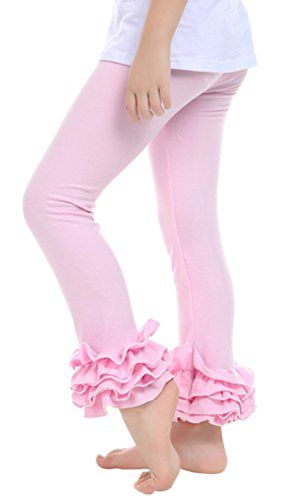 UwantC Girl Ruffle Leggings Toddler Kids Cotton Pants Baby Trousers Ages 2-6 Fit