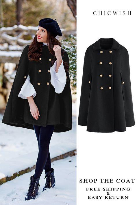 Stylish Cape Coat