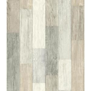 Brewster Barn Board Grey Thin Plank Paper Strippable Wallpaper Covers 56 4 Sq Ft Fd23273 The Home Depot Peel And Stick Wallpaper Wood Vinyl Wallpaper