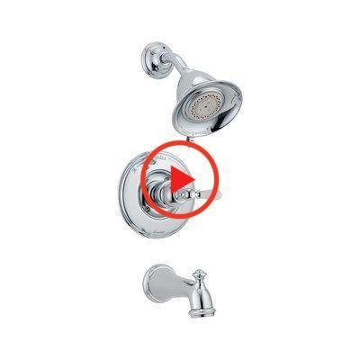 Delta Victorian Wanne Und Dusche Hahn Trim Mit Monitor Oberflache Chrom In 2020 Tub And Shower Faucets Bath Fixtures Shower Heads