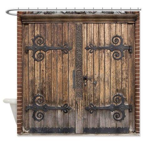 Superb Vintage Barn Door Shower Curtain On CafePress.com   Bathrooms   Pinterest    Wrought Iron Gates, Barn Doors And Iron Gates
