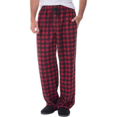 XL  Striped Red Black Fruit of the Loom Men's Fleece Sleep Pant Size L