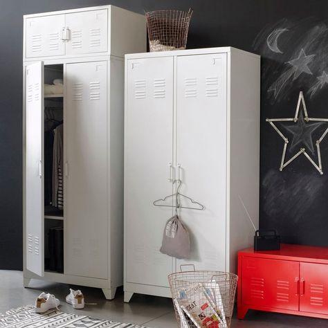 Armoire Vestiaire Metal 2 Portes Hiba Maisons Tall Cabinet