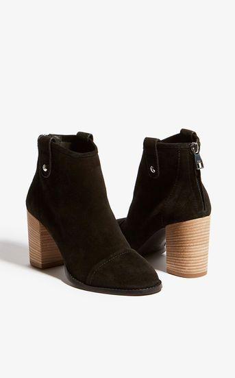 31e24fa1a9e Karen Millen, Stacked Heel Boots Black | LEWK BOOK in 2019 | Black ...