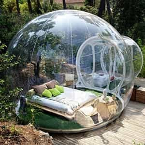 The Inflatable Bubble Tent Is For Those Adventurers That Want To Have A Magical Night Sleeping Under The Stars And Bubble Tent Outdoor Tent Geodesic Dome Homes