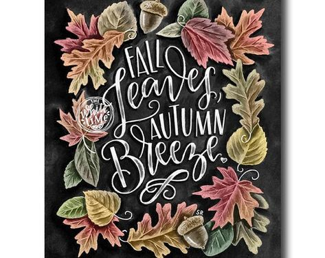 Fall Sign Chalkboard Art Chalk Art Fall Decor Hello Fall | Etsy