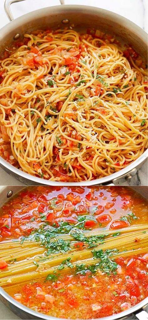 Italian Dishes, Italian Recipes, New Recipes, Vegetarian Recipes, Dinner Recipes, Cooking Recipes, Healthy Recipes, Chicken Pasta Recipes, Chicken And Diced Tomatoes Recipe