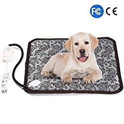 Firow Pet Heating Pad Electric Heated Bed Warming Pad Outdoor Pet