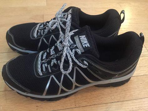 acquisto economico seleziona per autentico nuovi prodotti caldi NIKE AIR TRAIL RIDGE 2 Men's Size 9.5 Black Silver Athletic Shoes ...