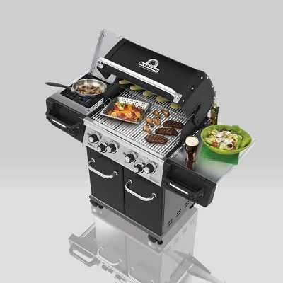 Broil King Regal 490 Pro 4 Burner Natural Gas Grill 956247 Propane Gas Grill Grilling Outdoor Cooking