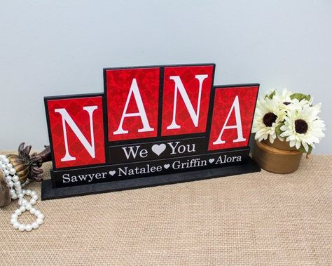 Personalized Gift For Nana Christmas Idea Wood Sign Handmade Gifts