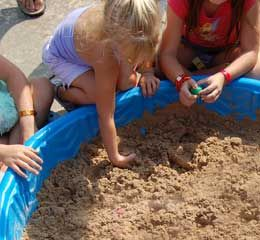 """Carnival Game Idea Dinosaur Dig (perfect for """"Making Cancer Extinct"""" camp site)."""