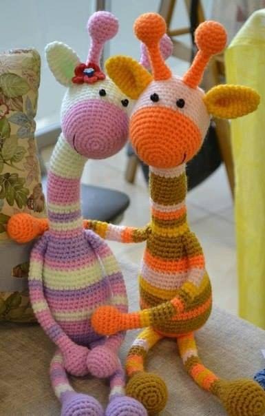 Giraffe Crochet Amigurumi Pattern   Jirafas amigurumis, Ganchillo amigurumi,  Jirafa amigurumi   604x385
