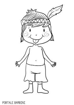 Disegni Di Indiani Per Bambini Da Stampare E Colorare Portale Bambini Disegni Indiana Disegni A Mano