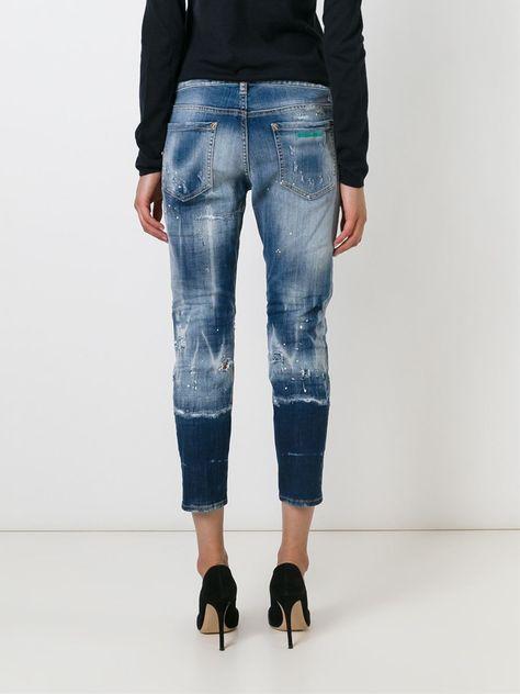 Dsquared2 Calça Jeans Cropped Cuccuini