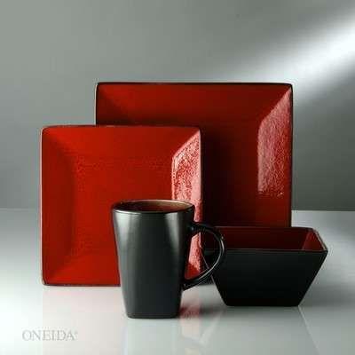 Red Black Dinnerware Black Dinnerware Decor Crafts To Do