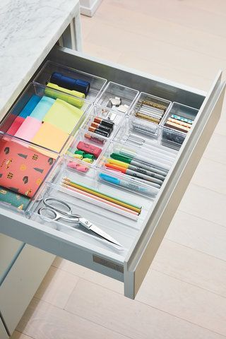 The Trick To Organizing A Messy Junk Drawer Office Drawer Organization Room Organization Home Office Organization