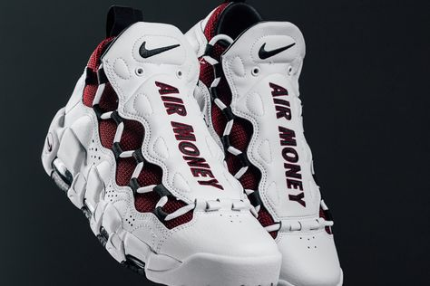 sports shoes dd20b ec942 Nike Air More Money White Burgundy    Release Date   Nice Kicks